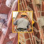 Ricostruzione particolari di facciata  e ripresa fughe della muratura - Chiesa Parrocchiale Antignano d'Asti