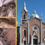 Ricostruzione particolari di facciata - Chiesa Parrocchiale Antignano d'Asti