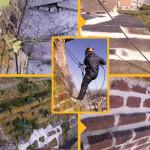 Ricostruzione del cornicione del campanile e  bonifica della muratura/ripresa delle fughe - Chiesa parrocchiale di Marene (Cn)