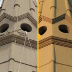 Ricostruzione particolare campanile